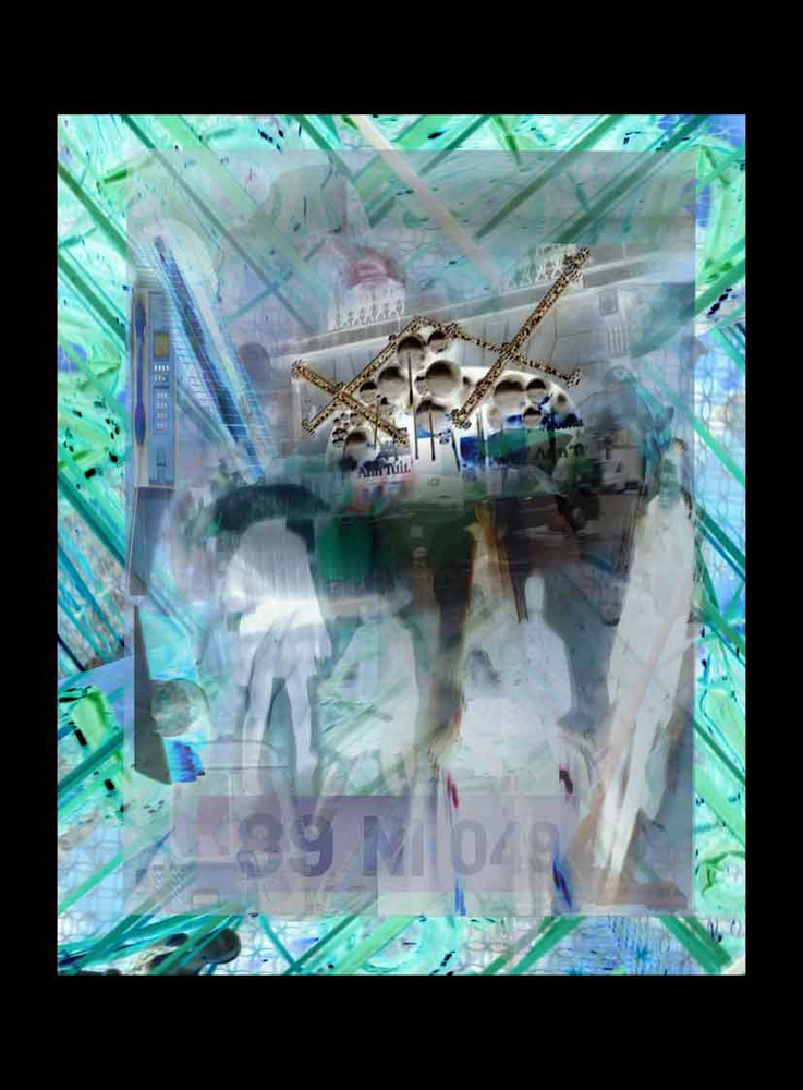 "Bertrand Alberge - plasticien - photomontage - ""Mercredi 20 janvier"""