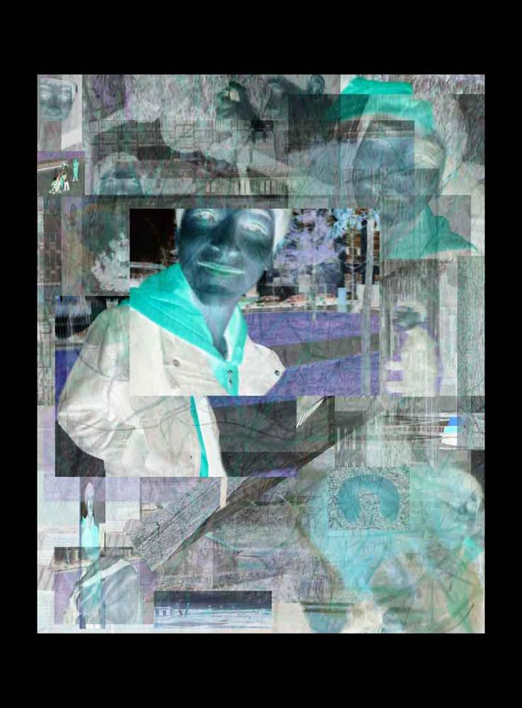 "Bertrand Alberge - plasticien - photomontage - ""Vendredi 22 janvier"""