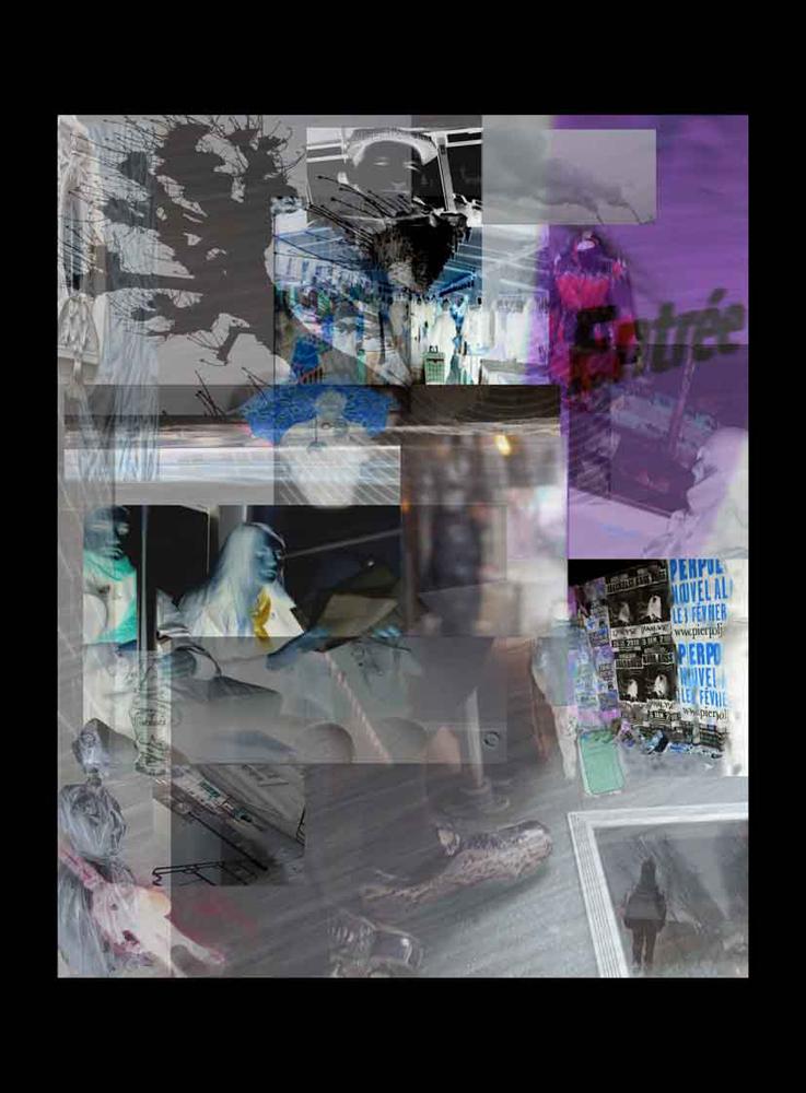 "Bertrand Alberge - plasticien - photomontage - ""Samedi 23 janvier"""