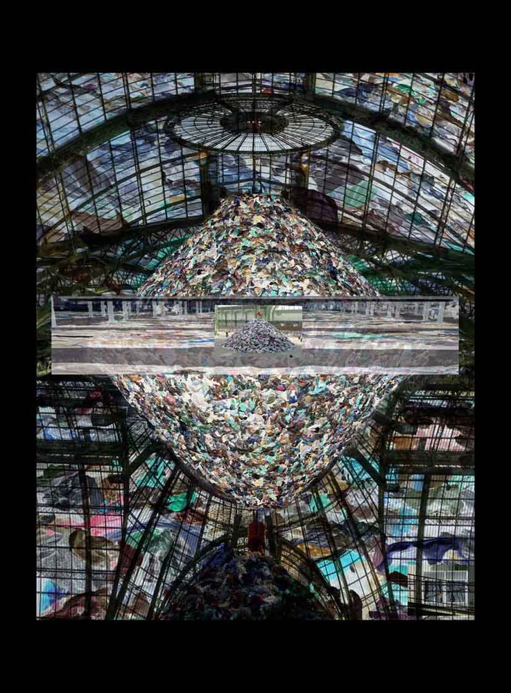 "Bertrand Alberge - plasticien - photomontage - ""Mercredi 27 janvier"""
