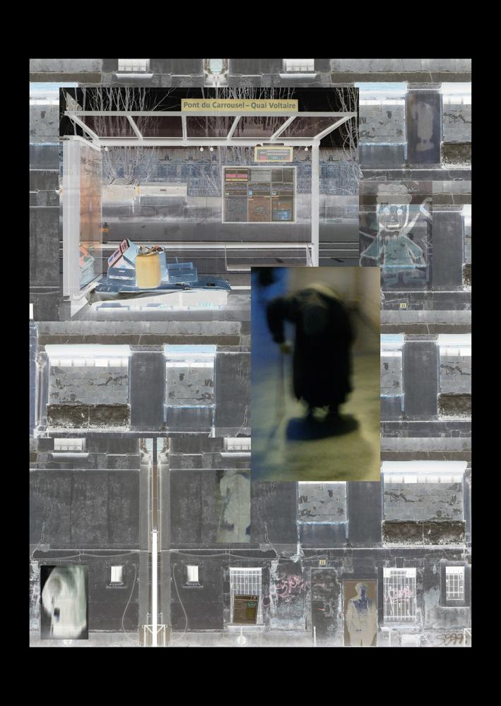 "Bertrand Alberge - plasticien - photomontage - ""Jeudi 28 janvier"""