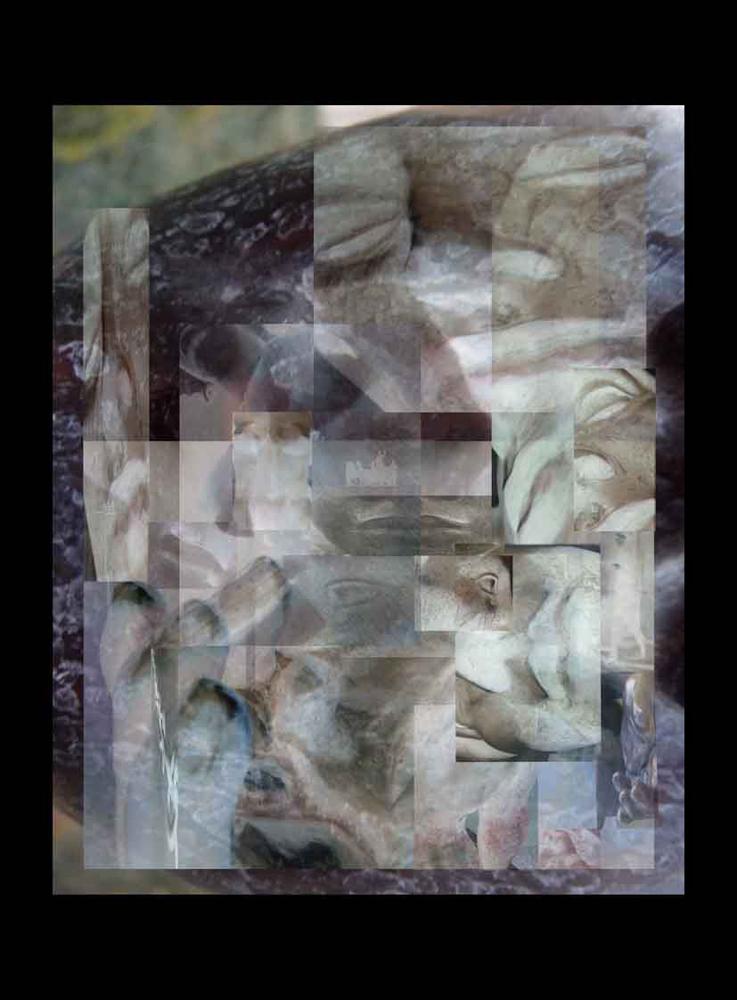 "Bertrand Alberge - plasticien - photomontage - ""Lundi 1 février"""
