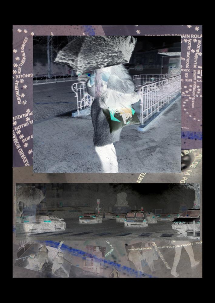 "Bertrand Alberge - plasticien - photomontage - ""Mercredi 10 février"""