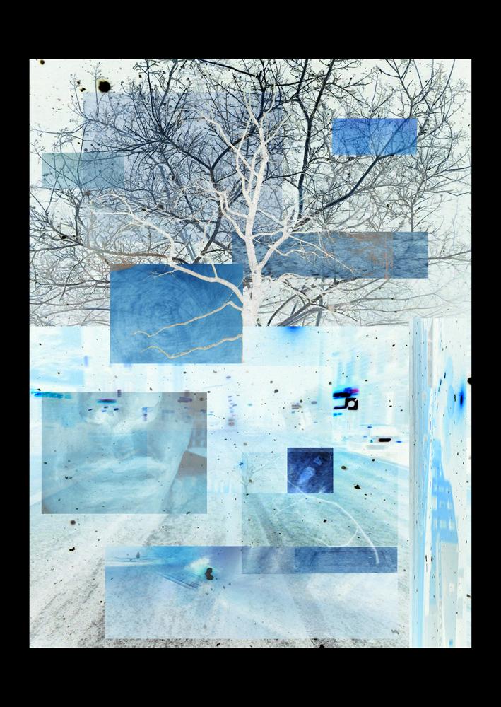 "Bertrand Alberge - plasticien - photomontage - ""Vendredi 12 février"""
