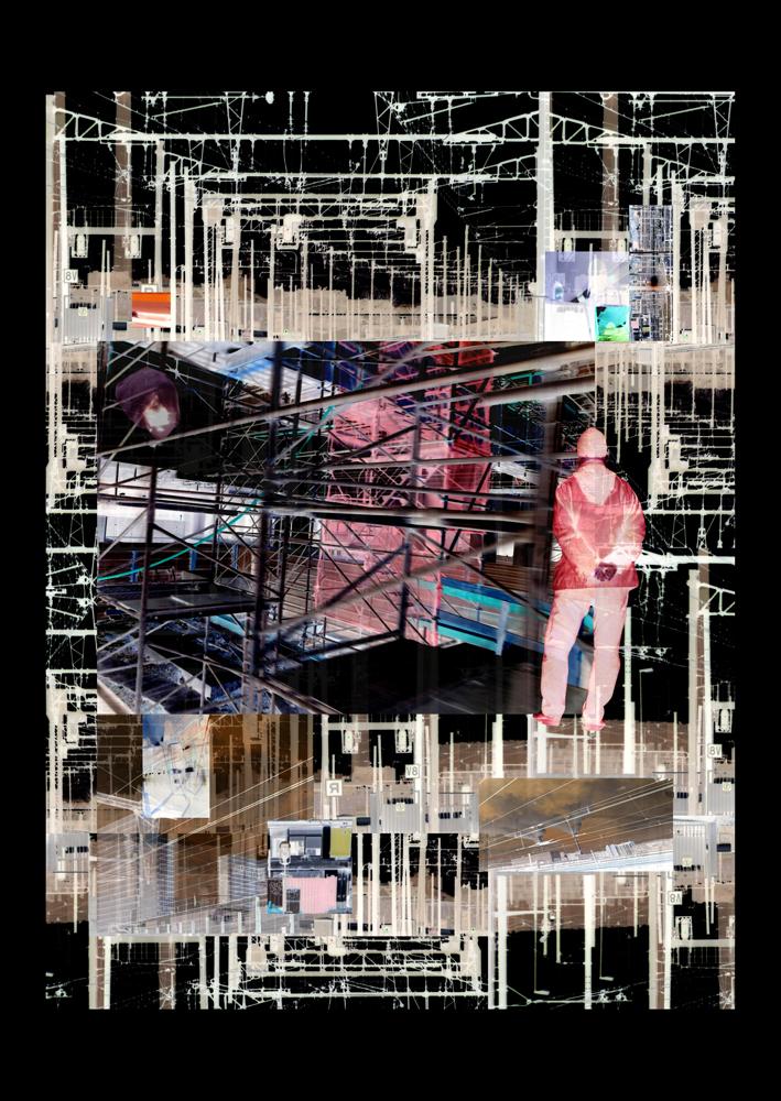 """Bertrand Alberge - plasticien - photomontage - """"Dimanche 14 février"""""""