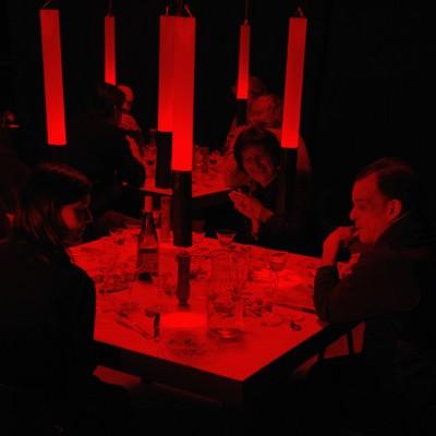 Bertrand Alberge - plasticien - scénographie de la salle des repas photogrammiques @p.praliaud