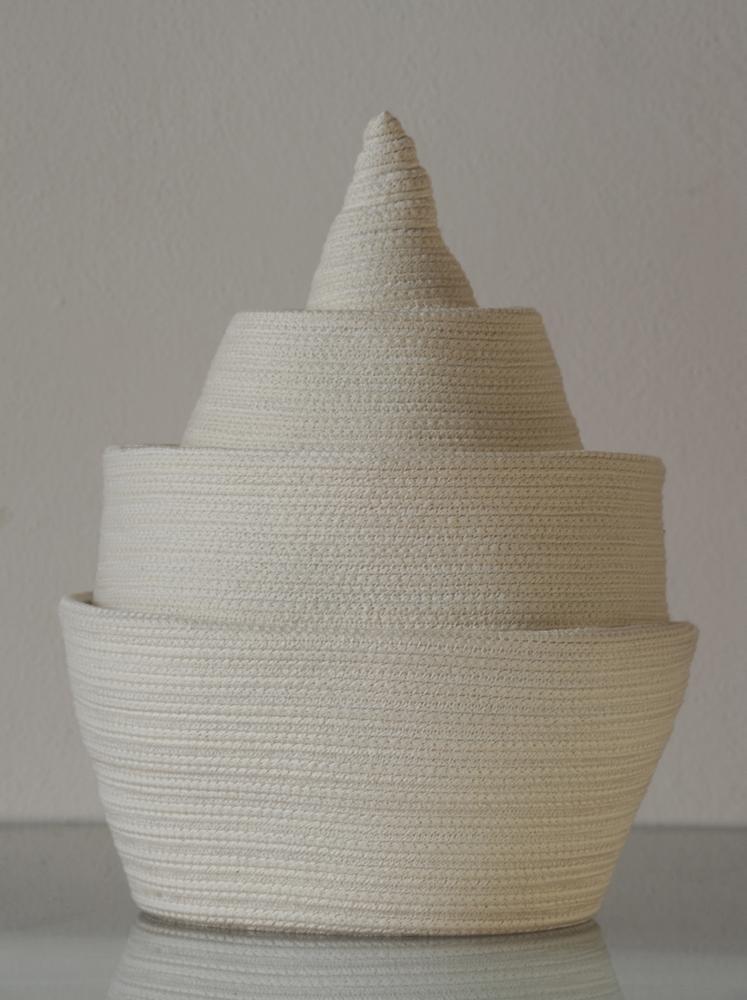 """Bertrand Alberge - plasticien - sculpture de coton - """"Cité"""""""