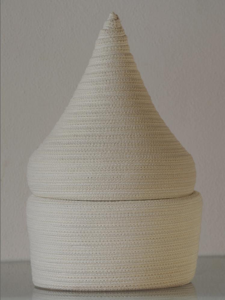 "Bertrand Alberge - plasticien - sculpture de coton - ""Secret"""