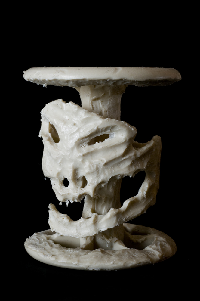 "Bertrand Alberge - plasticien - sculpture - ""Vanité"""