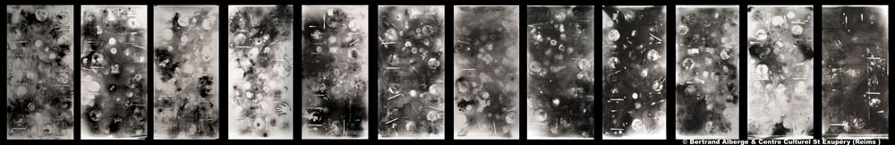 Bertrand Alberge - plasticien - photogramme - douze repas photogrammiques