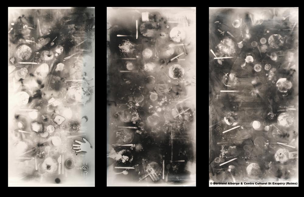 Bertrand Alberge - plasticien - photogramme - trois repas photogrammiques